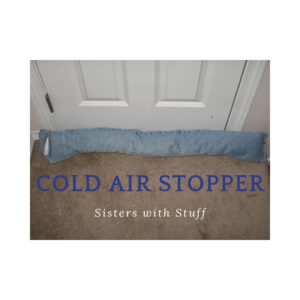 Cold air stopper from a pair of jeans