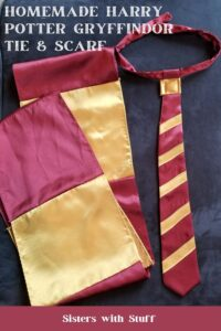 Homemade Harry Potter Tie and Scarf