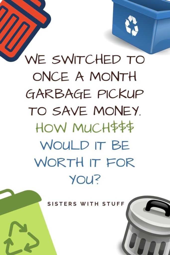 Could you live with only 1 Garbage pickup per month?