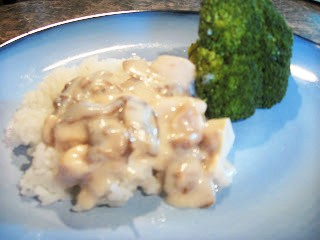 Cream of Mushroom with Rice and Broccoli for $5.48