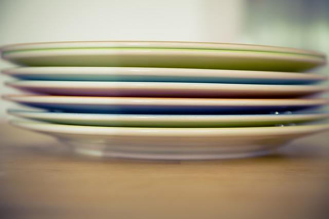 Have a few extra garage sale or thrift store plates around